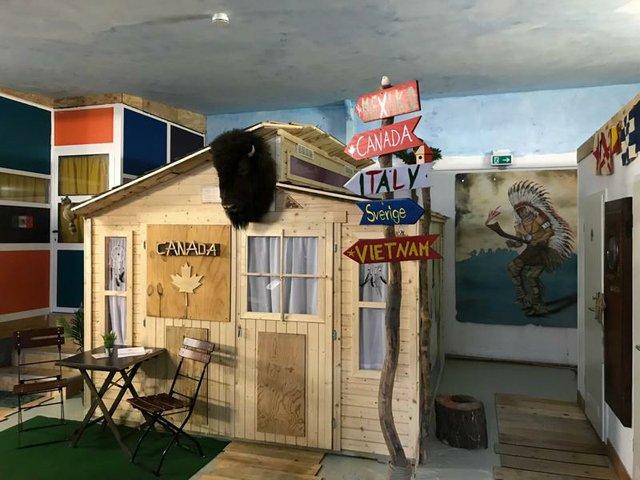 Holzfällerhütte im Hafentraum