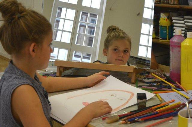 Selbstporträt Museen Böttcherstraße Kinderatelier