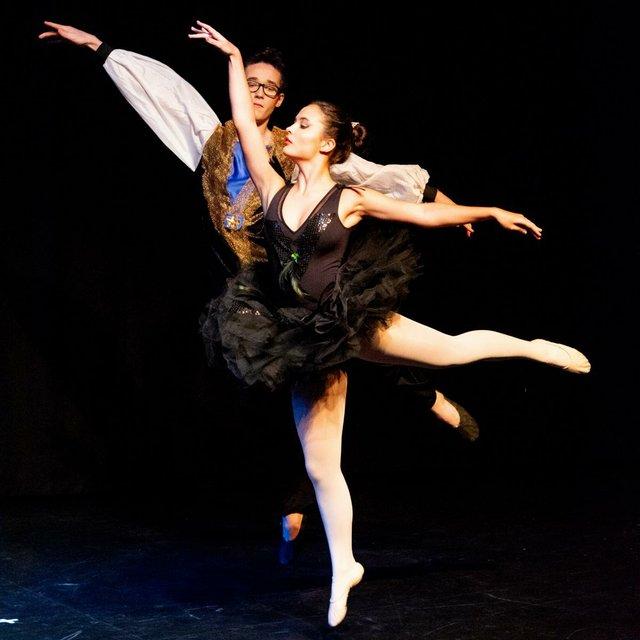 Ballett mit Spitzenschuhen