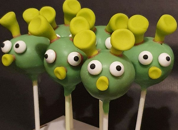 Corona Cake Pop Monster