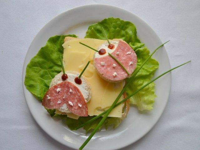 Marienkäfer-Sandwich