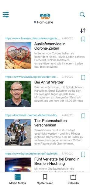 Ganz Bremen in einer App, Molo News
