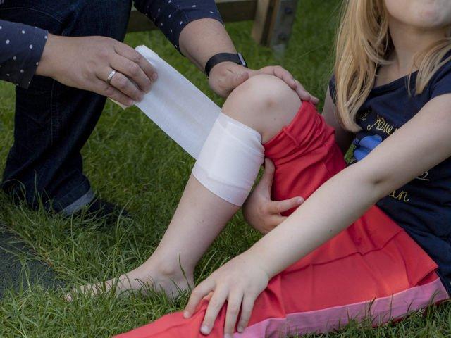 Verband - Erste Hilfe am Kind
