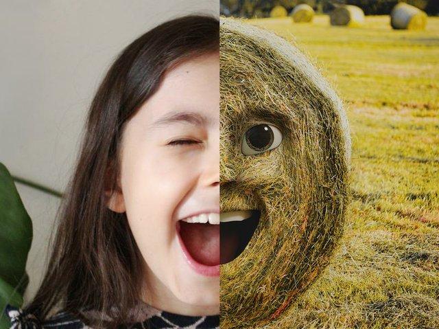 Kollektives Kunstwerk von Kindern