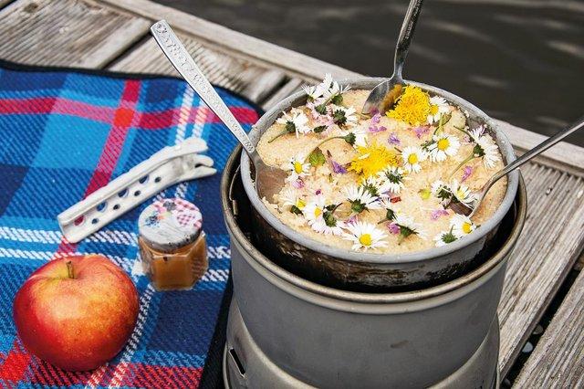 Hmmm, süßer Wildkräuter-Couscous zum Nachtisch