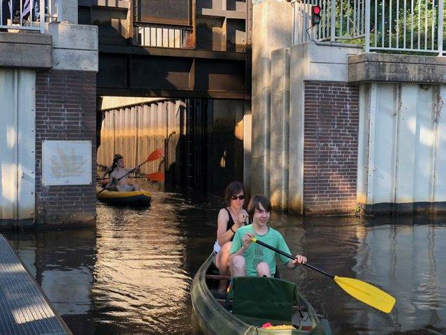 Mit dem Kanu durchs Blockland