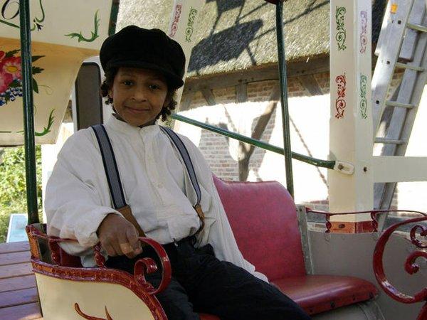 Eine Fahrt auf dem historischen Riesenrad