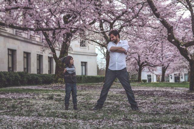 Vater, Sohn, Familie, Positiv Elternsein
