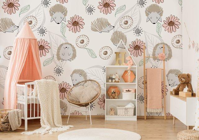Kinderzimmer mit niedlicher Fototapete