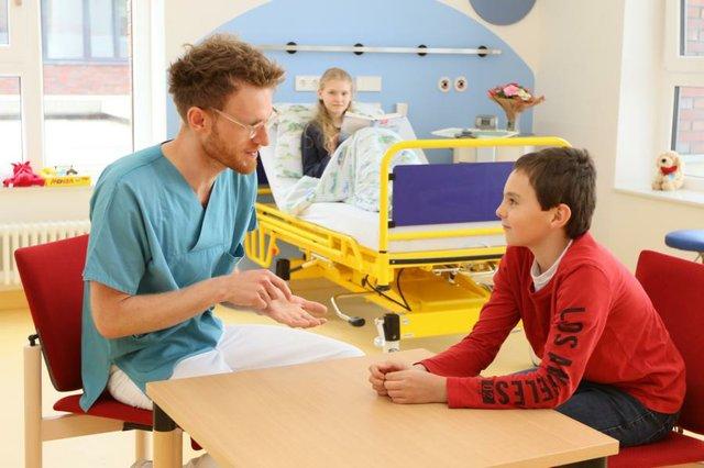 Kinderkrankenzimmer auf Station 5 im Elki Bremen