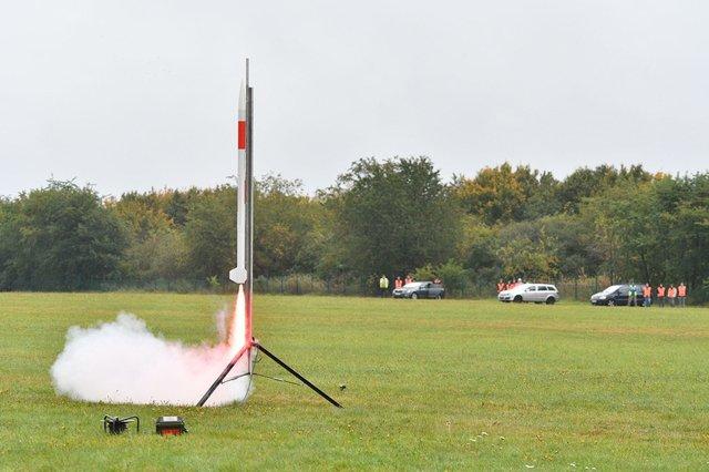 Start einer Rakete mit CanSats