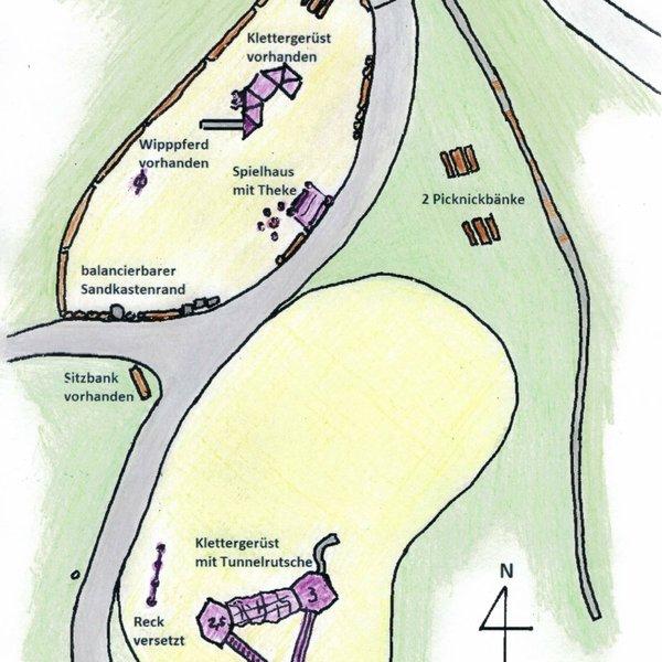 Planungsskizze Spielplatz Örreler Weg