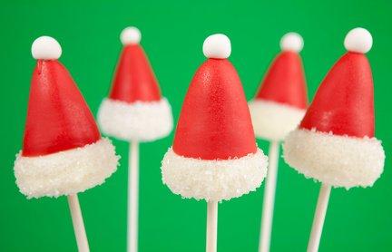 Santa Claus hat cake pops