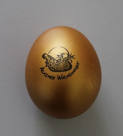 """Osteraktion """"Das goldene Ei"""", Achimer Wochenmarkt"""