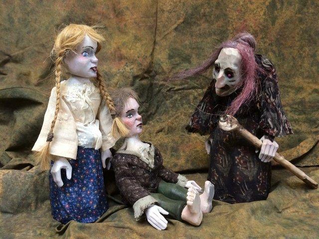 Hänsel und Gretel, Mensch Puppe
