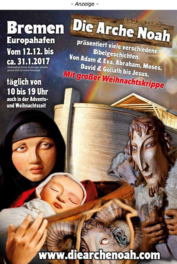 Arche Noah kommt nach Bremen