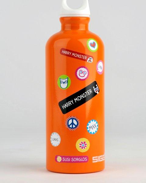 Trinkflasche, Stickerella