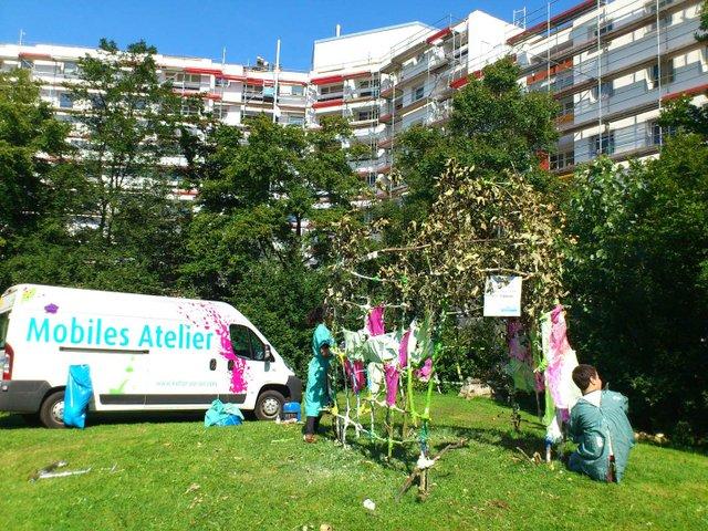 Das Mobile Atelier in der Rostocker Straße, Kultur Vor Ort