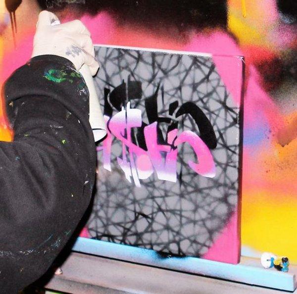 Ferienworkshop Graffitiaktion