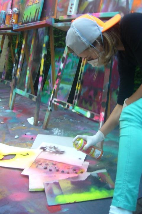 Action-Graffiti und Street-Art