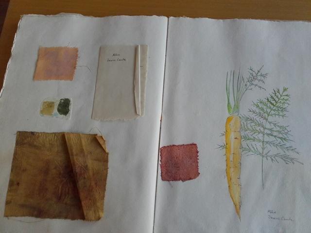 Gärtnern und Farben herstellen