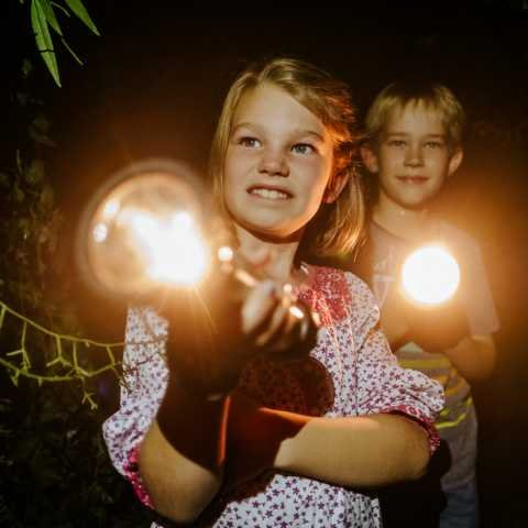 Im Dunkeln im Klimahaus