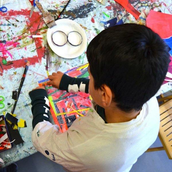 Farbrauschen - Kunst mit allen Sinnen - Bremer Schuloffensive