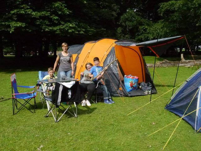 Mittsommernacht Camping